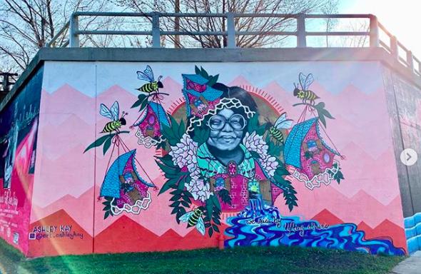 Ashley Kay - Mural Painter Artist - Buffalo NY Create it Collective 2